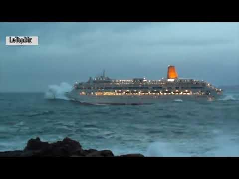 Bateaux de Croisière en Pleine Tempête - Bateau de Croisiere tempete en mer