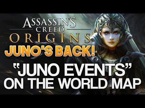Assassin's Creed Origins | Mysterious JUNO EVENTS on Map – Modern Day, Juno, First Civ, Storyline