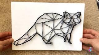 Картины из гвоздей и ниток в стиле геометрия. Стринг арт. Видеоурок для начинающих
