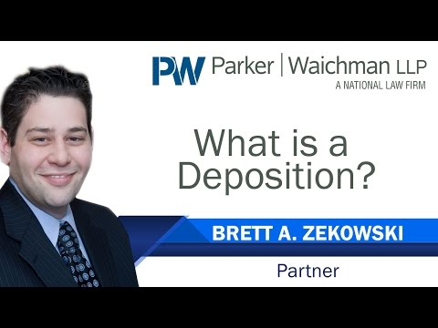 What Is A Deposition? – New York Personal Injury & Car Accident Attorney Brett Zekowski explains