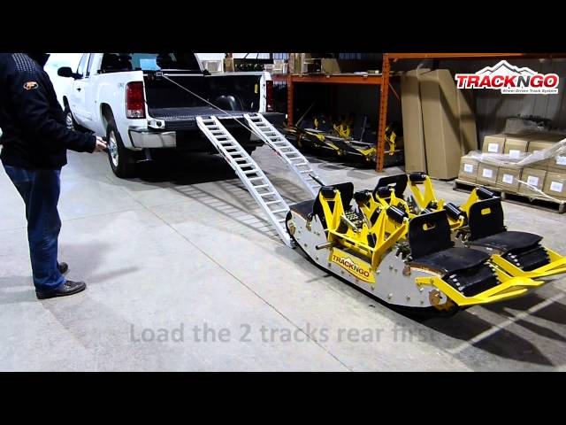 4.6 HOW TO LOAD THE TRACKS WITH A WINCH