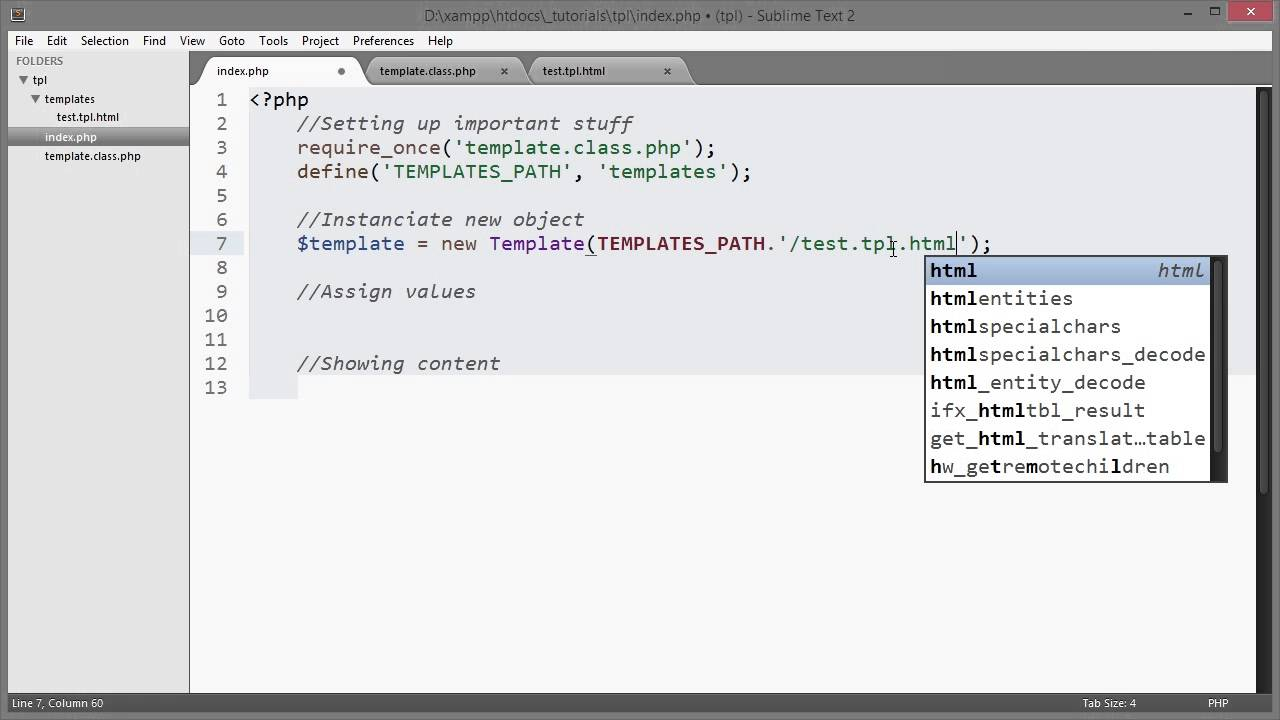 PHP: Template System - YouTube