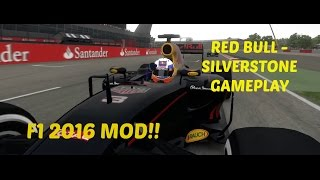 F1 2016 MOD: Silverstone Red Bull Gameplay - 2016 Tracks, Cars & Drivers