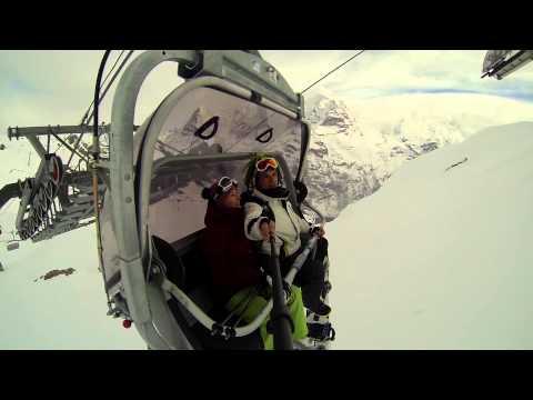 Switzerland snowboarding ski trip