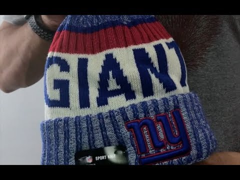 NY Giants  2017 STADIUM BEANIE  Royal Knit Hat by New Era - YouTube 7ea6fbe9c