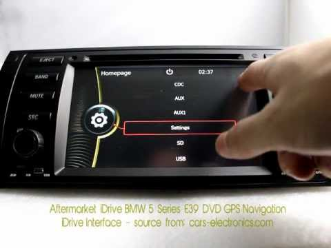 aftermarket idrive bmw e39 5 series dvd player with gps. Black Bedroom Furniture Sets. Home Design Ideas