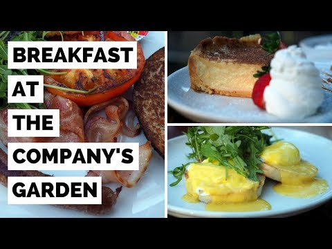 Breakfast in South Africa at Company's Garden Restaurant in