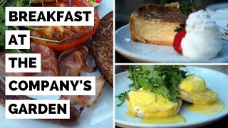 Breakfast in South Africa at Company's Garden Restaurant in Cape Town