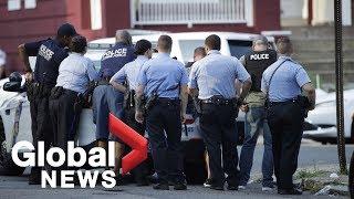 #PhiladelphiaShooting Authorities update shooting situation in Philadelphia after 6 officers shot, w
