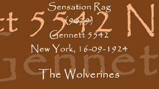 Bix - Sensation Rag - The Wolverines -New York, 16/09/1924
