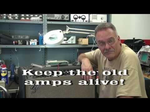 Vintage Fender Vibrolux tube guitar amp repair Static noise fix D-lab How to
