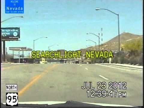 Laughlin NV to Las Vegas NV Time Lapse Drive 2012