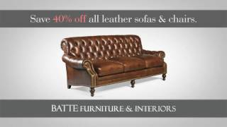 Fine Leather Furniture Savings at Batte Furniture and Interiors