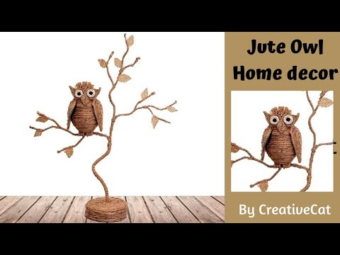 Jute Owl home decor/Twine owl/art and craft