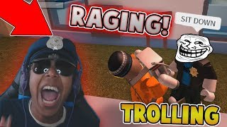 KID TROLLING RAGING CAMPING COP IN JAILBREAK?! (Roblox Jailbreak)
