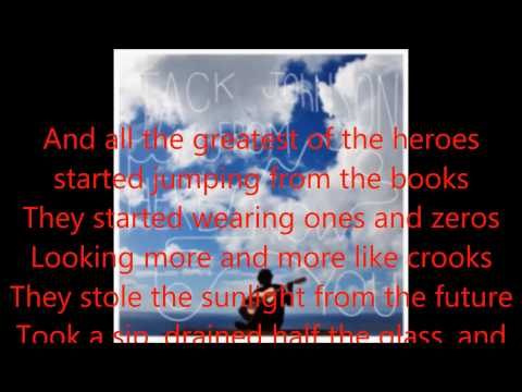 JACK JOHNSON ones and zeros lyrics