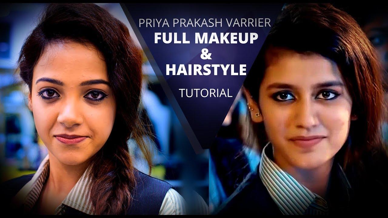 Priya Prakash Hairstyle Tutorial Step By Step Priya Prakash Makeup