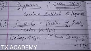 Class 10th Science - What Is Gypsum, POP, And Dead Burnt Plaster ? - Tx Academy