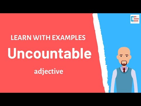Uncountable | Meaning with examples | Learn English | My Word Book