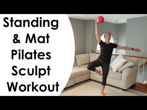 STANDING & MAT PILATES SCULPT WORKOUT (with MINI BALL)