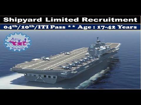 Shipyard Limited Recruitment 2017 | All Over India Job |  Govt Job