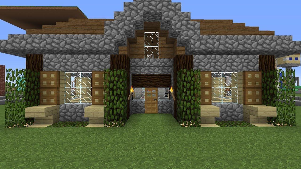 Minecraft simple mountain house timlapse youtube Mtn house