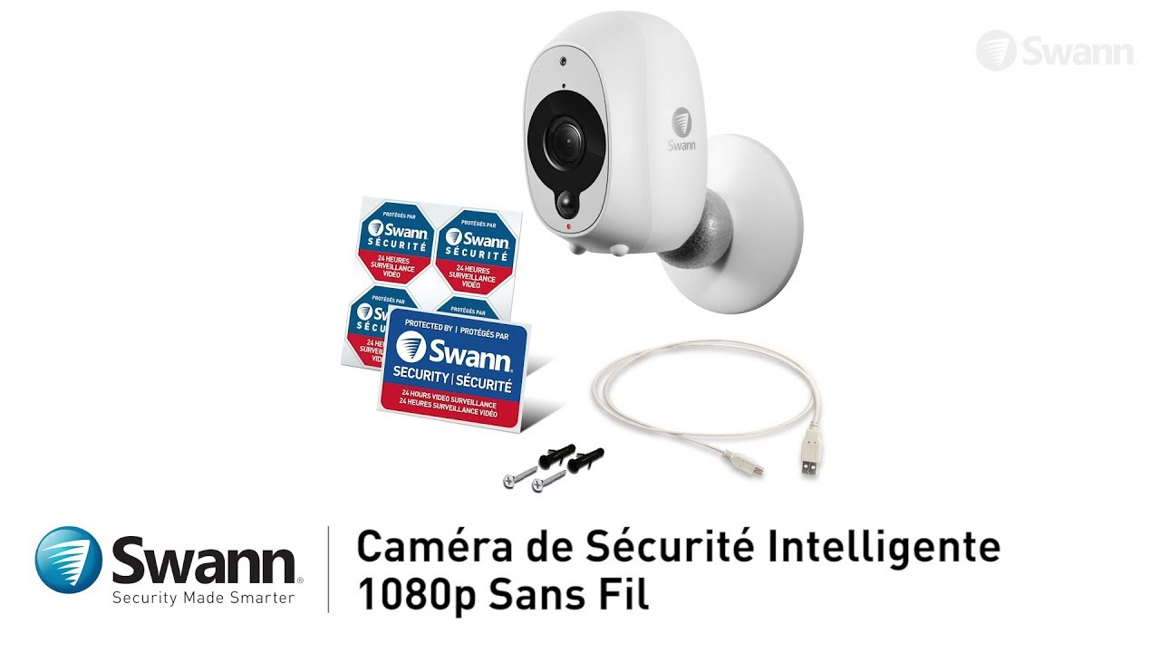 Camera De Surveillance Exterieur Wifi Avec Batterie Swann Caméra De Sécurité Intelligente Wifi Wireless Hd 1080p Audio Vision Nocturne Notification Push