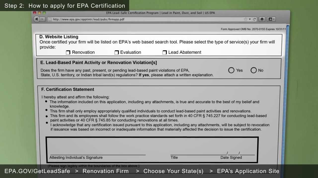 Epa Renovation Repair And Painting Certification Guide Youtube