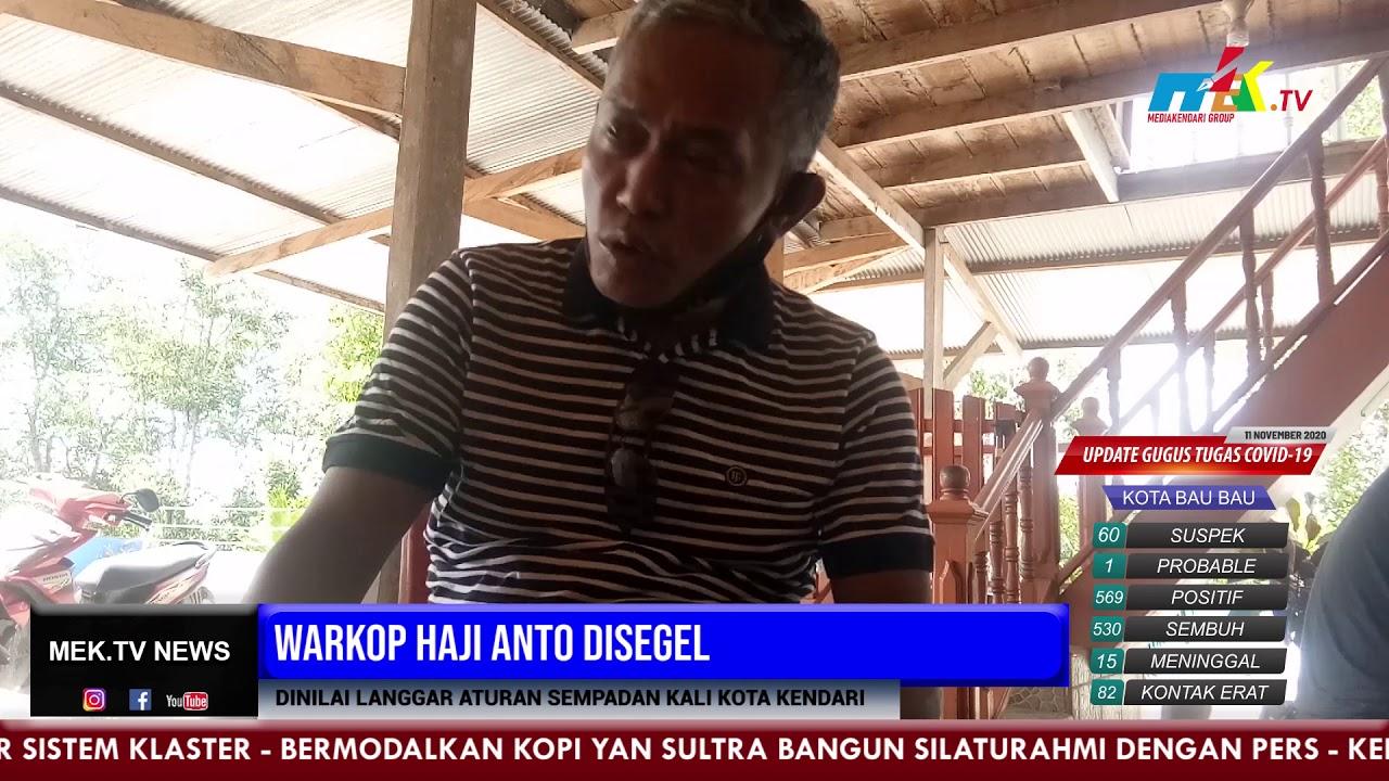 Warkop Haji Anto Disegel, Dinilai Langgar Aturan Sempadan Kali Kota Kendari
