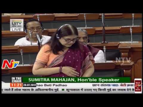 Smt  Maneka Gandhi during Lok Sabha Question Hour 28 07 17