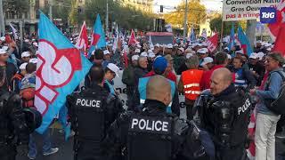 Sur le vif: deuxième jour de grève pour les maçons genevois