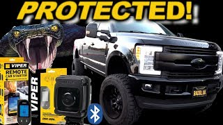 Protected by VIPER! Ford F250 Alarm Install DS4+ Bluetooth Siren, 2 Way Remotes & ALL sensors