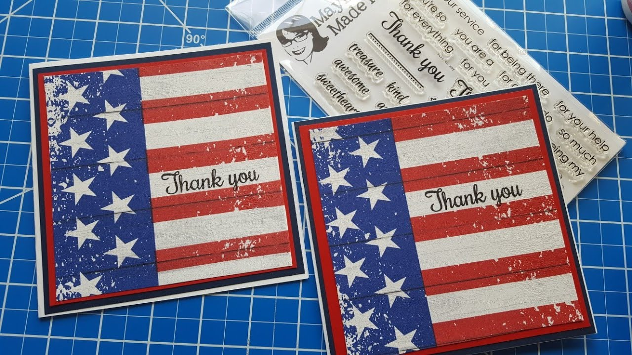 Napkin Card Thank You For Your Service Maymay Made It Youtube
