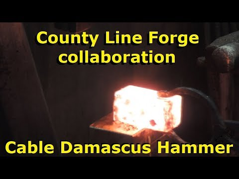 Forging A Cable Damascus Hammer