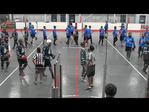 "Code Blue vs. The Clappers Club (6/28/17) (""B"" Div Playoff Semi-Final Game 3) Ball Hockey"