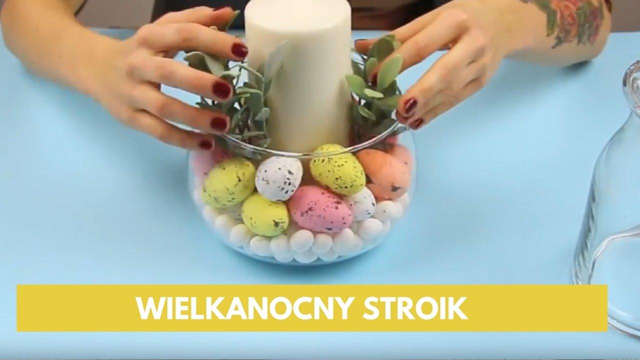 Jak Zrobić Stroik Wielkanocny W Kilka Minut Dekoracja świecy Zróbtosam Dekoracje