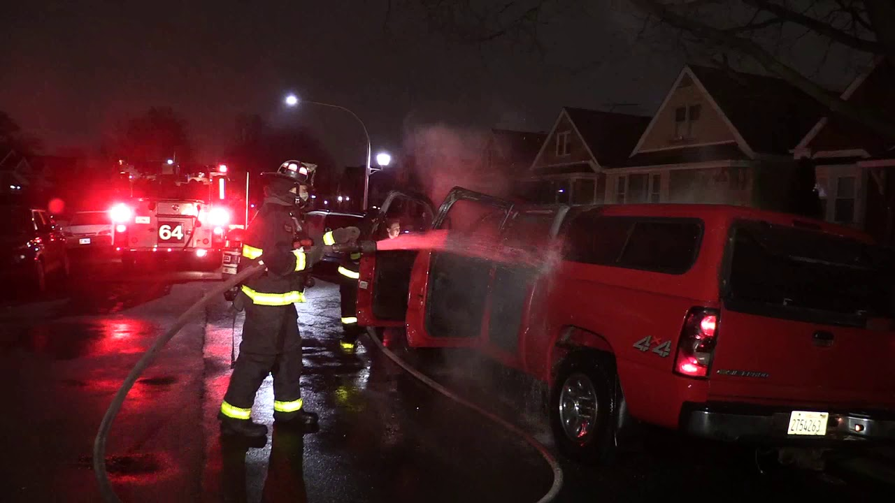 2 28 21 Chicago Fire Department Car Fire