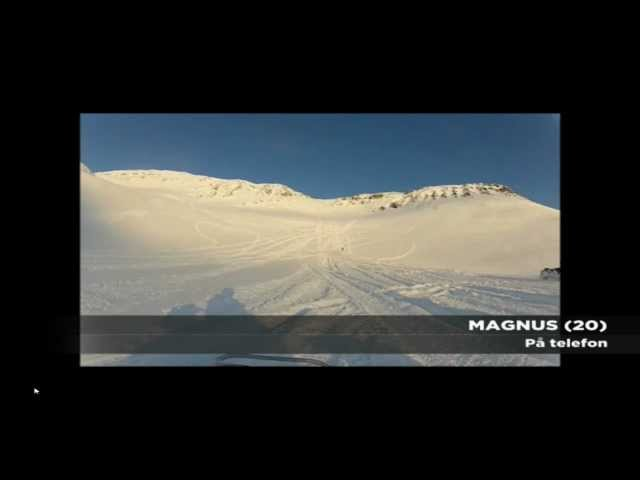 Snowmobile Drivers taken by avalanche +  (Norwegian)