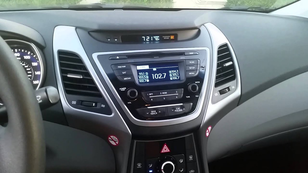 2015 Hyundai Elantra SE Start Up/Tour