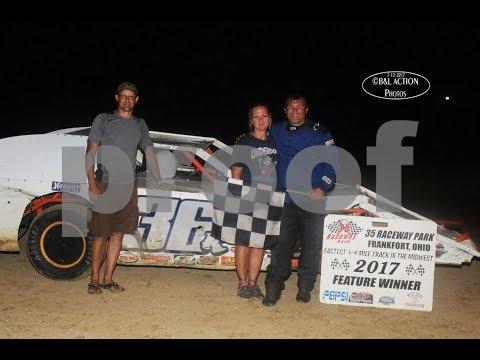 7-15-2017 35 Raceway Park Modified Feature - Keith Bills wins, Cory Skipton 2nd