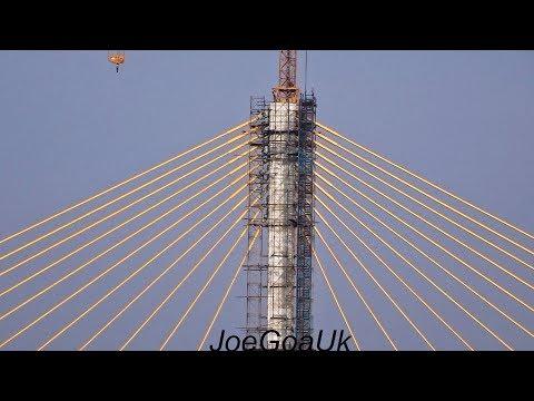 New Mandovi bridge 12 11 17 (Panaji-Porvorim-OldGoa Bypass)