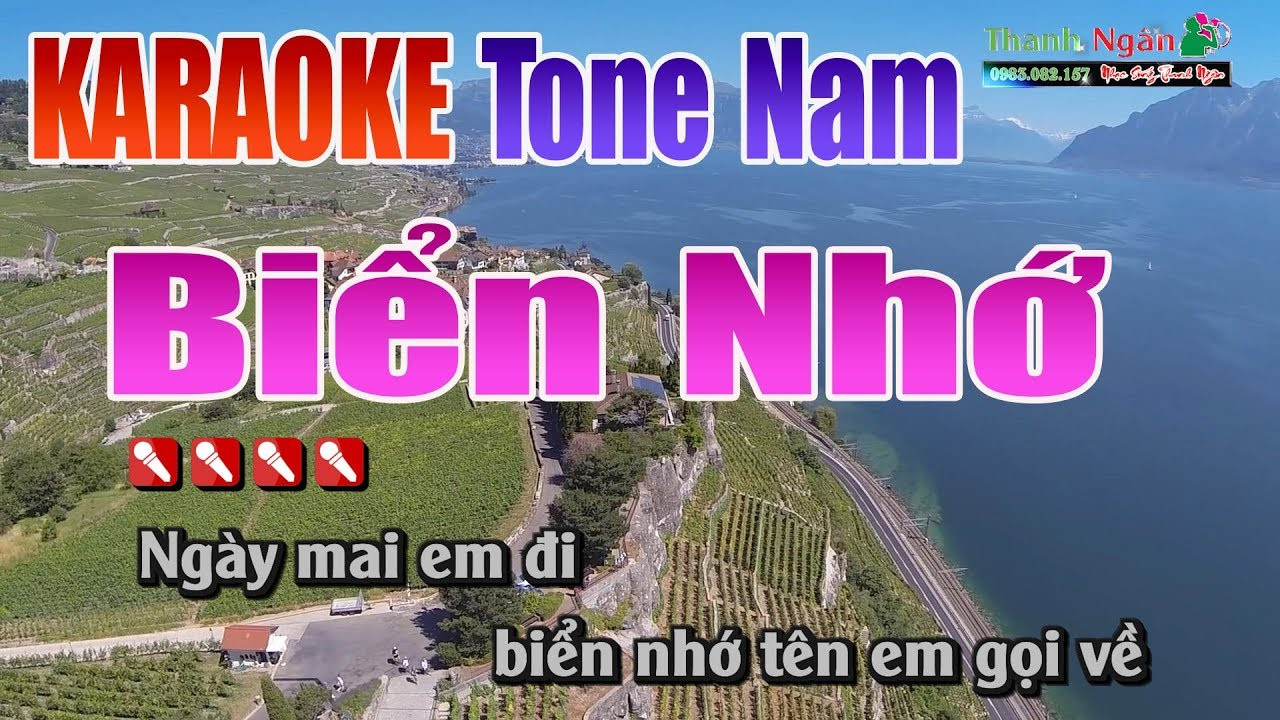 Biển Nhớ Karaoke || Tone Nam – Nhạc Sống Thanh Ngân