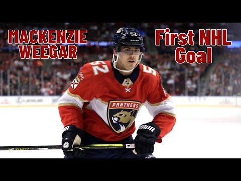MacKenzie Weegar #52 (Florida Panthers) first NHL goal 20.10.2017