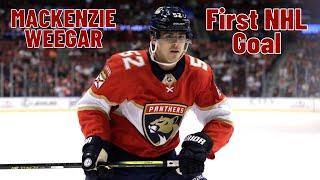 MacKenzie Weegar #52 (Florida Panthers) first NHL goal 20/10/2017