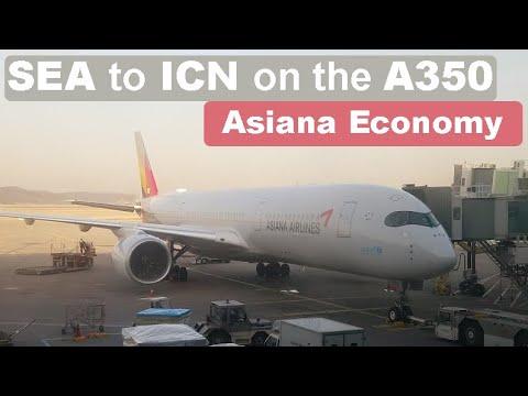 Trip Report | Asiana Air | Economy | Airbus A350-900XWB | Seattle To Seoul-Incheon