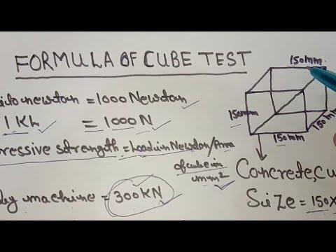 Concrete Cube Test Formula