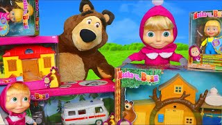 Masha and the Bear Toys: Playhouse & Toy Dolls Surprise Play for Kids