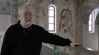 Alexander Kornoukhov tells about his mosaics in the temple of Three Saints