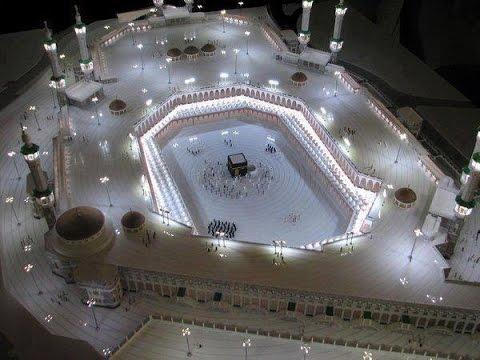 masjid haram mekah - suasana pada malam hari di makah