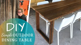DIY Simple Outdoor Dining Table | This to That